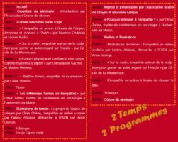 21/09/2017 EMPATHIE EN ACTES: Séminaire Recherche Action du programme EnJeu[x]
